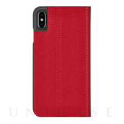 【iPhoneXS Max ケース】Barely There Folio (Cardinal)