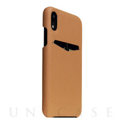 【iPhoneXR ケース】Full Grain Leather Back Case (Caramel Cream)