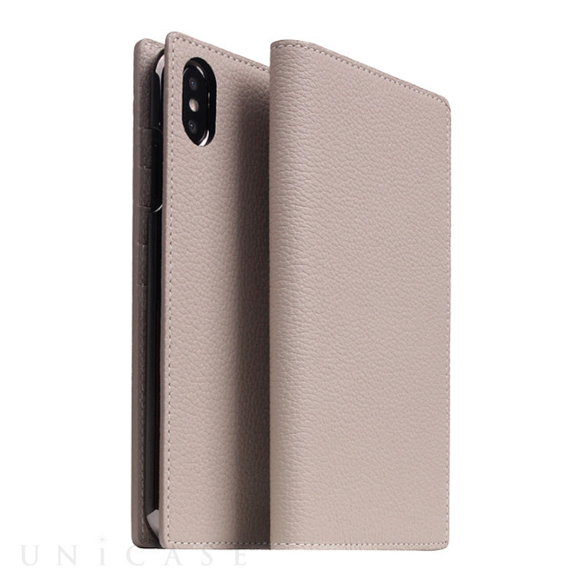 【iPhoneXS Max ケース】Full Grain Leather Case (Light Cream)