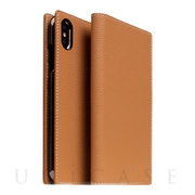 【iPhoneXS Max ケース】Full Grain Leather Case (Caramel Cream)