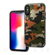 【iPhoneXS/X ケース】CAMO CARD FOLDING CASE (KHAKI)