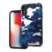 【iPhoneXR ケース】CAMO CARD FOLDING CASE (NAVY)