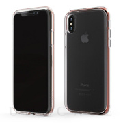 【iPhoneXS Max ケース】INFINITY CLEAR CASE (レッド)