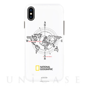 【iPhoneXS Max ケース】Compass Case Double Protective (ホワイト)