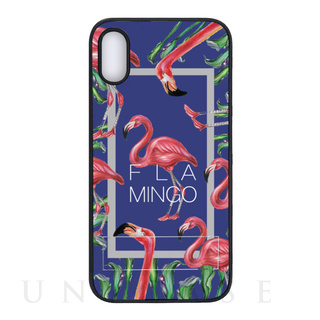 【iPhoneXR ケース】spirit case (FLAMINGO SQUARE ブルー)