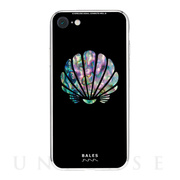 【iPhone8/7 ケース】Black Sea Shell柄9Hガラスケース (TD)