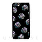 【iPhone8/7 ケース】Black Sea Shell柄9Hガラスケース (TE)