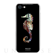 【iPhone8/7 ケース】Black Sea Shell柄9Hガラスケース (TH)