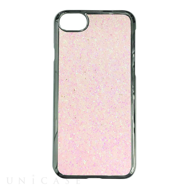 【iPhoneSE(第2世代)/8/7/6s/6 ケース】GLITTER CASE (Giltter pale pink)