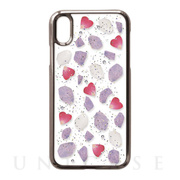 iPhoneXR ケース Pressed flower case (wine color flowers) f62641c23f48