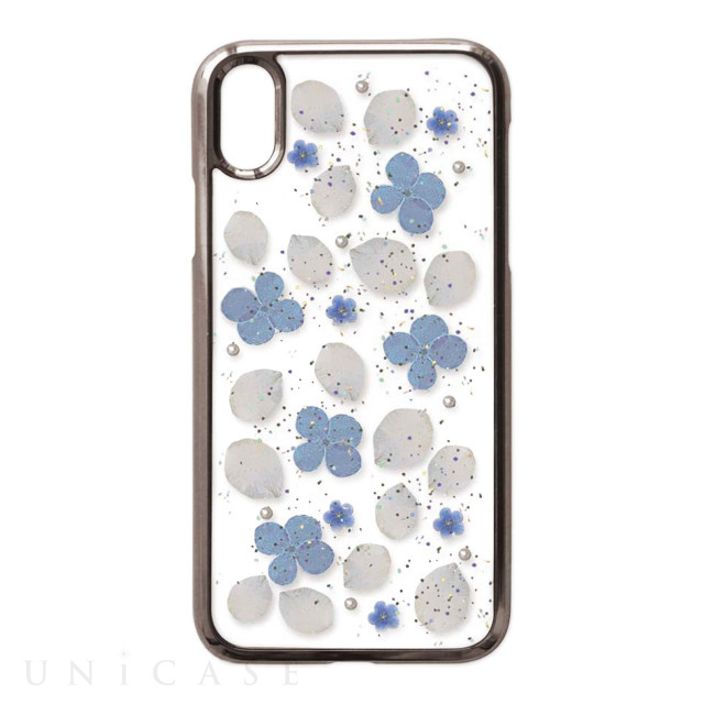 【iPhoneXR ケース】Pressed flower case (Clean flowers)