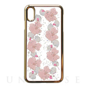 【iPhoneXS Max ケース】Pressed flower case (pale pink flowers)