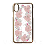 【iPhoneXS/X ケース】Pressed flower case (pale pink flowers)