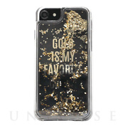 【iPhone8/7/6s/6 ケース】Liquid case (LOVE GOLD)