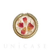 Smartphone ring (Rose red petals...