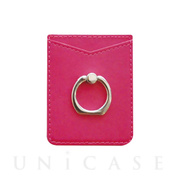 Card holder smartphone ring (Pink)