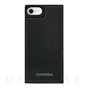 【iPhone8/7/6s/6 ケース】EMODA Square Mirror Case (BLACK)