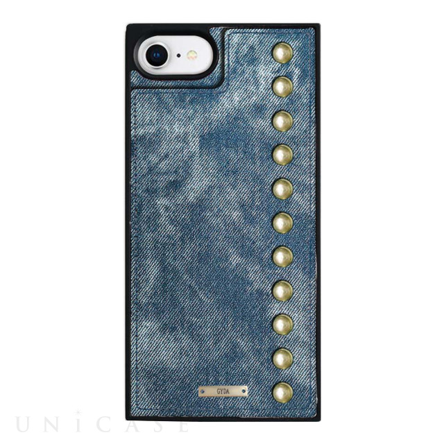 【iPhone8/7/6s/6 ケース】GYDA Square Mirror Case (Chemical wash indigo)