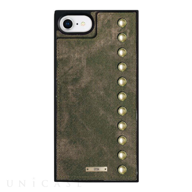 【iPhone8/7/6s/6 ケース】GYDA Square Mirror Case (Chemical wash khaki)