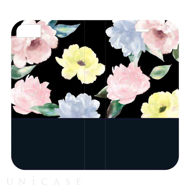 【iPhone8/7/6s/6 ケース】2WAY CASE (colorful flower-BLK)