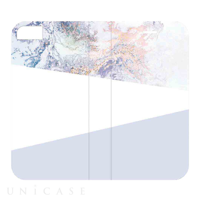 【iPhoneSE(第2世代)/8/7/6s/6 ケース】2WAY CASE (marble-blue)