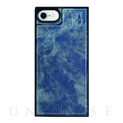 【iPhoneSE(第2世代)/8/7/6s/6 ケース】Square Mirror Case (Indigo denim)