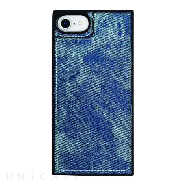 【iPhone8/7/6s/6 ケース】Square Mirror Case (Indigo denim)