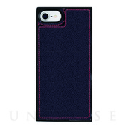 【iPhoneSE(第2世代)/8/7/6s/6 ケース】Square Mirror Case (Navy×Red)