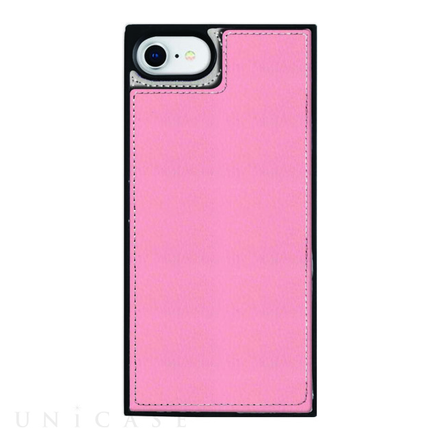【iPhone8/7/6s/6 ケース】Square Mirror Case (Pink×Greige)