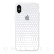 【アウトレット】【iPhoneXS/X ケース】MONOCHROME CASE for iPhoneXS/X (Gradation Dot White)