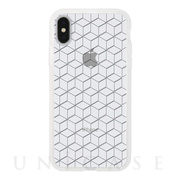 【アウトレット】【iPhoneXS/X ケース】MONOCHROME CASE for iPhoneXS/X (Hexagon Line Black)
