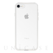 【アウトレット】【iPhone8/7 ケース】MONOCHROME CASE for iPhone8/7 (Slash Stripe White)