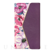 【アウトレット】【iPhoneXS/X ケース】Flower Series mirror case for iPhoneXS/X(Purple Anemone)