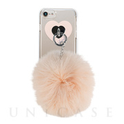 【iPhone8/7/6s/6 ケース】dazzlin クリアケース FUR (LATTE BEIGE)