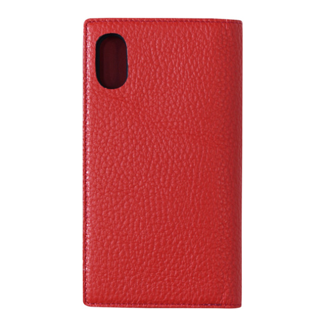 "【iPhoneXS/X ケース】""minimo""(BOOK TYPE) (RED)"