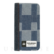 【iPhoneXR ケース】BOOK TYPE CASE (DENIM PACHWORK)