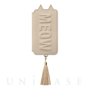 【アウトレット】【iPhoneXS/X ケース】Tassel Tail Cat for iPhoneXS/X (Beige)
