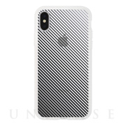 【アウトレット】【iPhoneXS/X ケース】MONOCHROME CASE for iPhoneXS/X (Slash Stripe Black)