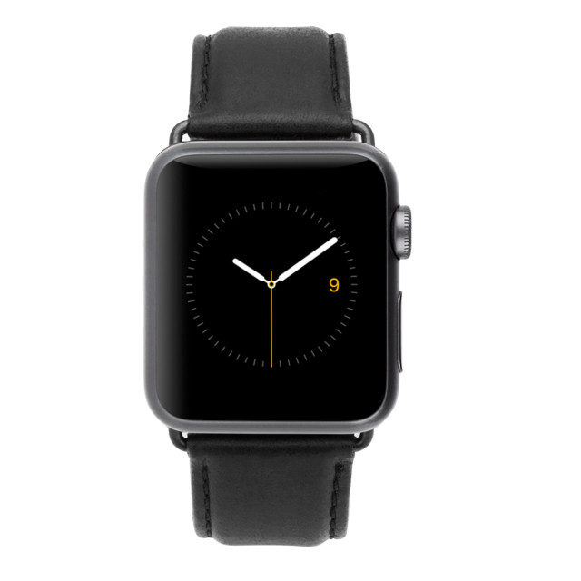 【AppleWatch Series4/3/2/1(44/42mm) バンド】Apple Watchband Signature Leather (Black)サブ画像