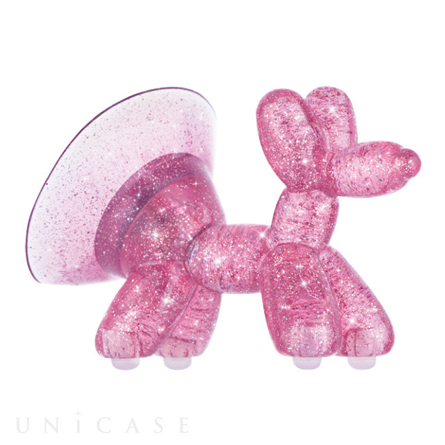 Stand Ups Balloon Dog SHEER CRYSTAL (Pink)