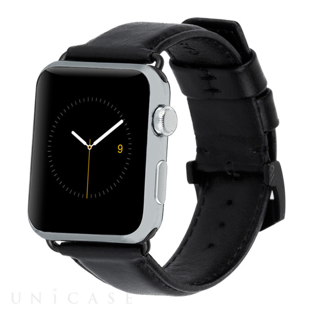 【AppleWatch Series4/3/2/1(44/42mm) バンド】Apple Watchband Signature Leather (Black)