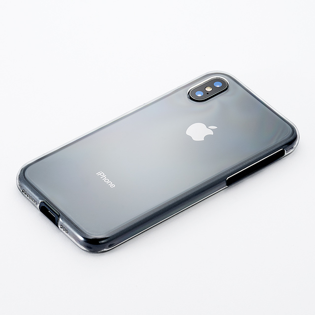 【iPhoneXS ケース】Air jacket Shockproof (Black)