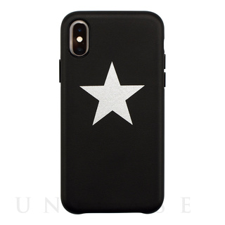 【iPhoneXS/Xケース】OOTD CASE for iPhoneXS/X (black star)