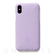【iPhoneXS/X ケース】Haptic Case (Light Purple)