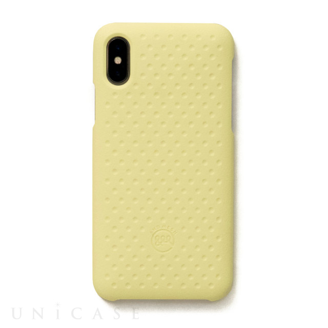 【iPhoneXS/X ケース】Haptic Case (Light Yellow)