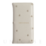【iPhoneXS/X ケース】STAR EMBROIDERY (WHITE)