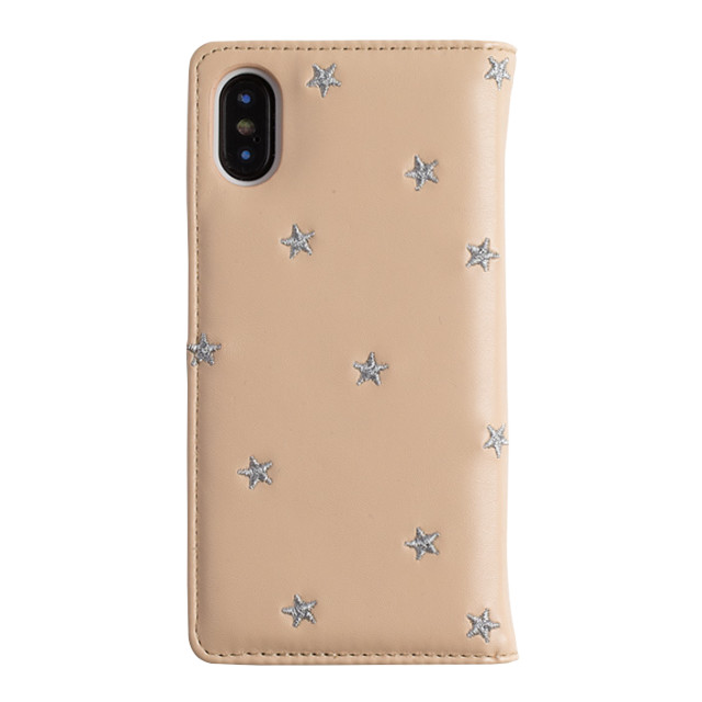【iPhoneXS/X ケース】STAR EMBROIDERY (PINK)サブ画像