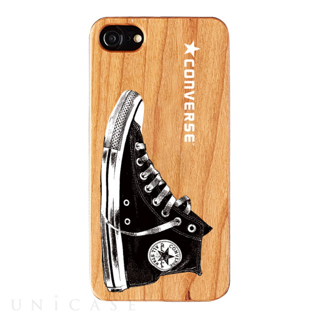 【iPhone8/7/6s/6 ケース】WOOD CASE (Shoes LOGO)