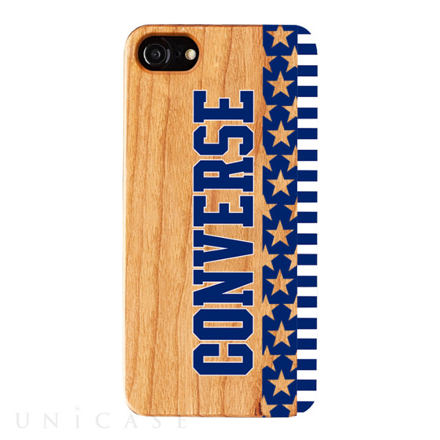 【iPhone8/7/6s/6 ケース】WOOD CASE (Star and Stripes NAVY)
