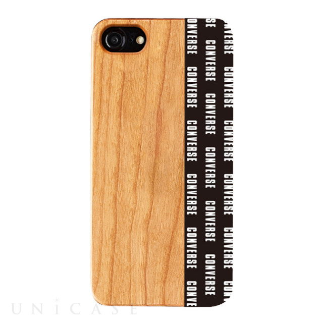 【iPhone8/7/6s/6 ケース】WOOD CASE (Pattern Black)
